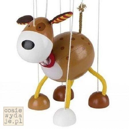 Drewniana marionetka Pies